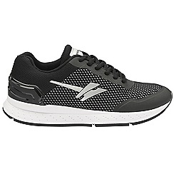 Gola Sport - Black and white 'Major' ladies lace up sports trainers