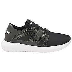 Gola - Black/white 'Nadir' ladies lace up sports trainers
