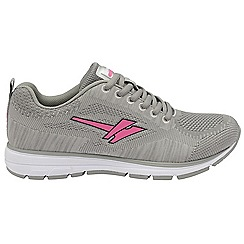 Gola - Grey & pink 'Fortuna' ladies lace up sports trainers