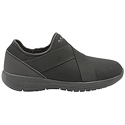 Gola - Black 'G-lite' ladies slip on fitness trainers