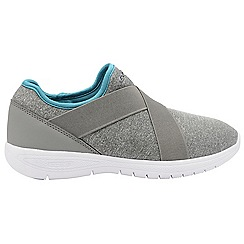 Gola - Grey/Teal 'G-lite' ladies slip on fitness trainers