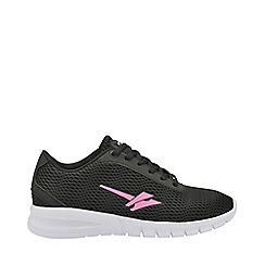 Gola Sport - Black and pink 'Beta 2' ladies lace up trainers
