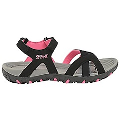 Gola - Black/Pink 'Cedar' ladies slip on sandals