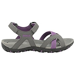 Gola - Grey/Purple 'Cedar' ladies slip on sandals