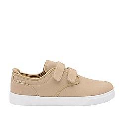 Gola Sport - Taupe and White 'Panama Qf' Mens Wide Fit Trainers