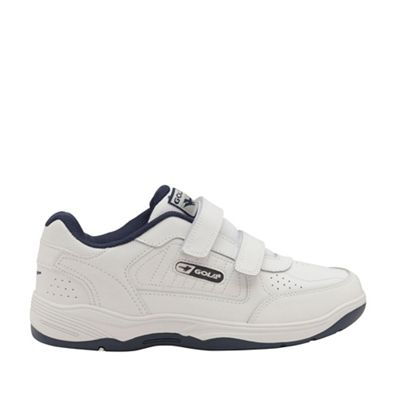 Gola - White/navy 'Belmont twin strap WF' trainers