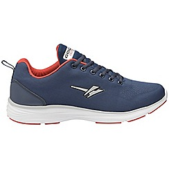 Gola - Navy/Red 'Malim' men's lace up sports trainers