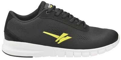 Gola Sport - Black/Yellow 'Beta' men's lace up sports trainers