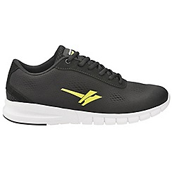 Gola - Black/Yellow 'Beta' men's lace up sports trainers