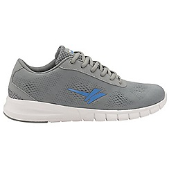 Gola - Grey and blue 'Beta' mens lace up sports trainers
