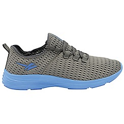 Gola - Grey/Blue 'Sondrio' men's lace up sports trainers