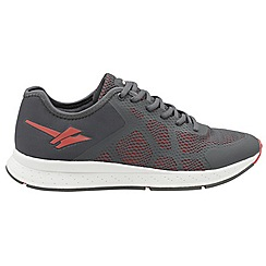 Gola - Grey and red 'Triton 2 mens lace up sports trainers