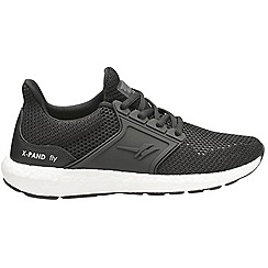 Gola - Black 'X-pand Fly' mens sports trainers