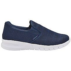 Gola Sport - Navy and white 'Prism' mens slip on trainers