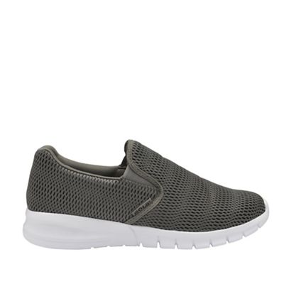 dbe549832999a Gola Sport Grey and white 'Prism' mens slip on trainers | Debenhams