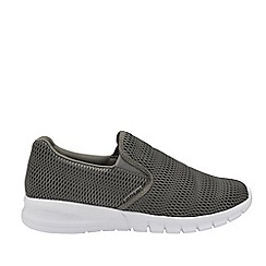 Gola Sport - Grey and White 'Prism' Mens Slip On Trainers