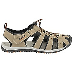 Gola Sport - Taupe and black and orange 'Shingle 3' mens sandals