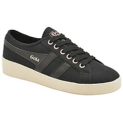 Gola - Black and off white 'Grace' ladies lace up plimsolls