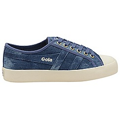 Gola Classics - Denim and off white 'Coaster denim' ladies plimsolls