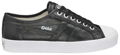 Gola Classics - Black 'Coaster Metallic' ladies plimsolls