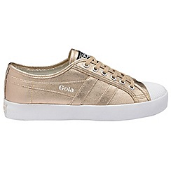 Gola - Rose gold 'Coaster Metallic' ladies plimsolls