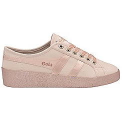 Gola Classics - Blossom and gold 'Grace metallic' ladies plimsolls