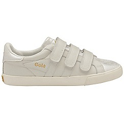 Gola Classics - Off white 'Orchid shimmer velcro' ladies trainers