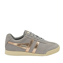 Gola Classics - Grey and Rose gold 'Harrier Mirror' ladies trainers