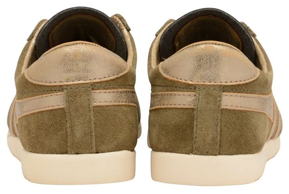 and ladies gold 'Bullet Classics Mirror' Gola trainers Khaki qw168xET