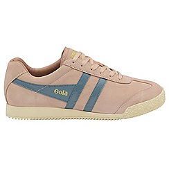Gola - Blush pink and Indian teal 'Harrier Suede' trainers