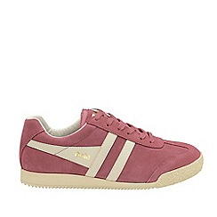 Gola - Dusty rose and off white 'Harrier Suede' trainers