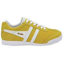 Gola - Yellow and white 'Harrier Suede' trainers