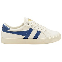 Gola - Off white and vintage blue 'Mark Cox' ladies trainers