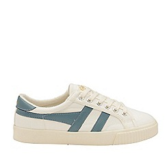 Gola Classics - Off White and Indian Teal 'Mark Cox' Ladies Trainers