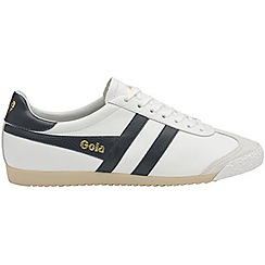 Gola - White and navy 'Harrier 50 Leather' ladies trainers