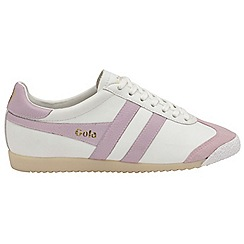 Gola - White and pink 'Harrier 50 Leather' ladies trainers