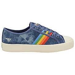 Gola - Denim and multi 'Coaster Rainbow' ladies plimsolls