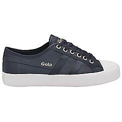 Gola - Navy and white 'Coaster Satin' ladies trainers
