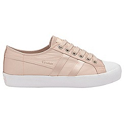Gola - Blush pink and white 'Coaster Satin' ladies trainers