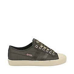 Gola Classics - Khaki and off white 'Coaster satin' ladies trainers
