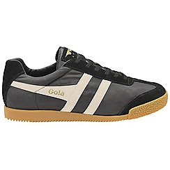 Gola Classics - Black and off white 'Harrier nylon' mens trainers