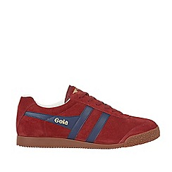 Gola - Burgundy 'Harrier Suede' mens trainers
