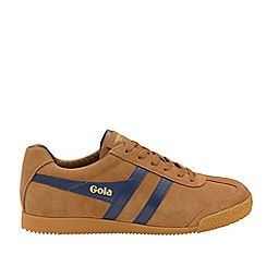 Gola Classics - Caramel and Navy 'Harrier Suede' Mens Trainers