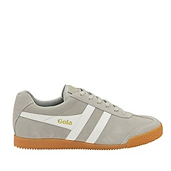 Gola Classics - Light Grey and White 'Harrier Suede' Mens Trainers