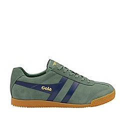 Gola Classics - Sage and Navy 'Harrier Suede' Mens Trainers