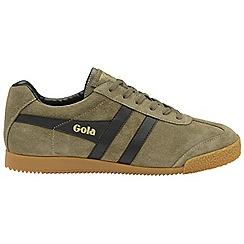Gola Classics - Khaki and Black 'Harrier Suede' mens trainers