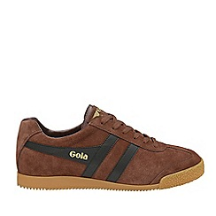 Gola Classics - Cognac and black 'Harrier suede' mens trainers