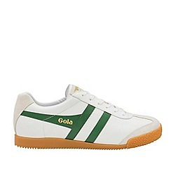 Gola Classics - White and Green 'Harrier Leather' Mens Trainers
