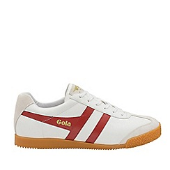 Gola Classics - White and Deep Red 'Harrier Leather' Mens Trainers