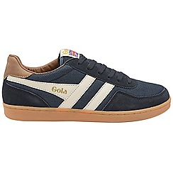 Gola Classics - Navy and off white and tan 'Elite' mens lace up trainers